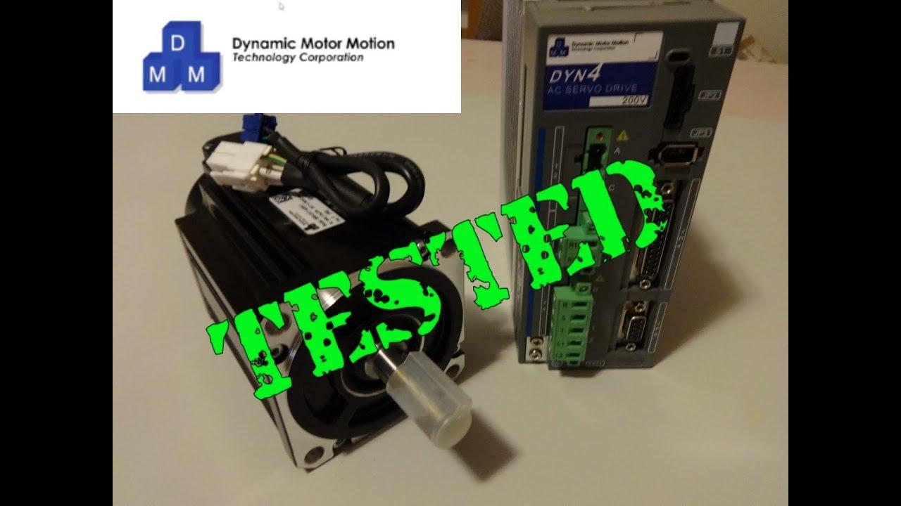 DMM TECH DYN4 Servo Bench Tested by CNC4XR7