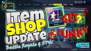 🎶MenamesCho's LIVE ⚡ ITEM SHOP UPDATE 🎸 GET FUNKY 🎶 Fortnite Battle Royale - 4th / 5th May 2019