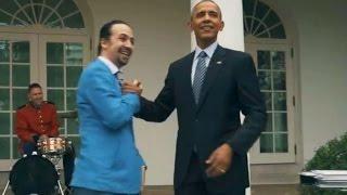 Obama Raps with 'Hamilton' Star Lin-Manuel Miranda