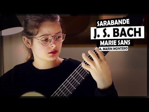 J. S. Bach, Cello Suite BWV 1010 - Marie Sans Plays Sarabande On A 2019 Antonio Marin Montero