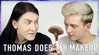 Boys Do My Makeup! Thomas A.K.A Korthom! | JessieMaya
