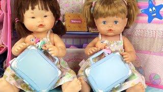Ani y Ona NENUCO estrenan maletas y las llenamos de cosas super bonitas Muñecos Bebé thumbnail