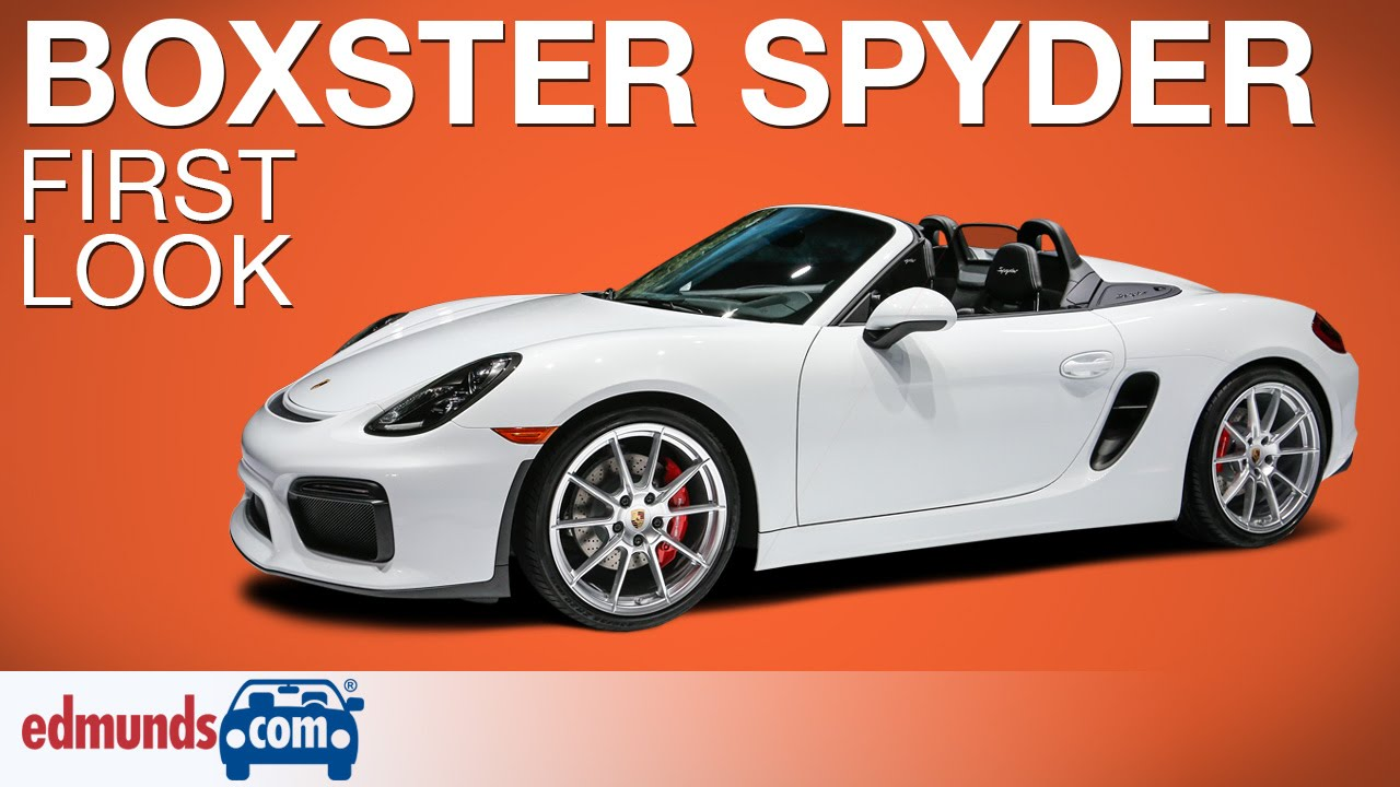 2016 Porsche Boxster Spyder First Look | New York Auto ...