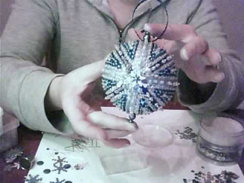 Blue And Silver Christmas Ornament