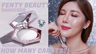 How many carats?!Fenty Beauty Diamond Bomb Highlighter Review   史上最美的银河钻石水光高光?! Fenty Beauty钻石炸弹高光测评