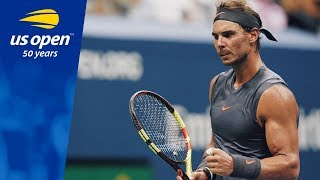 Three-time Champion Rafael Nadal Shines Bright in Arthur Ashe Stadium - 2018 US Open