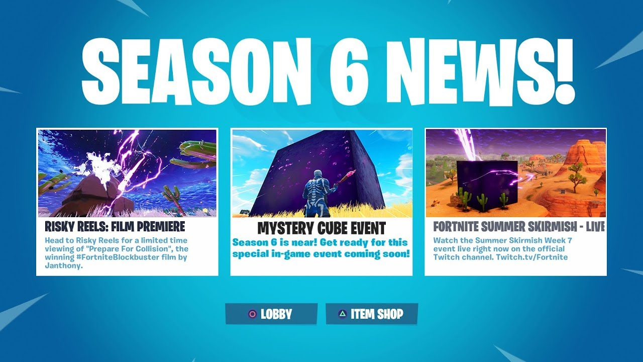 New Season 6 Cube Event Is Here Fortnite Battle Royale Youtube