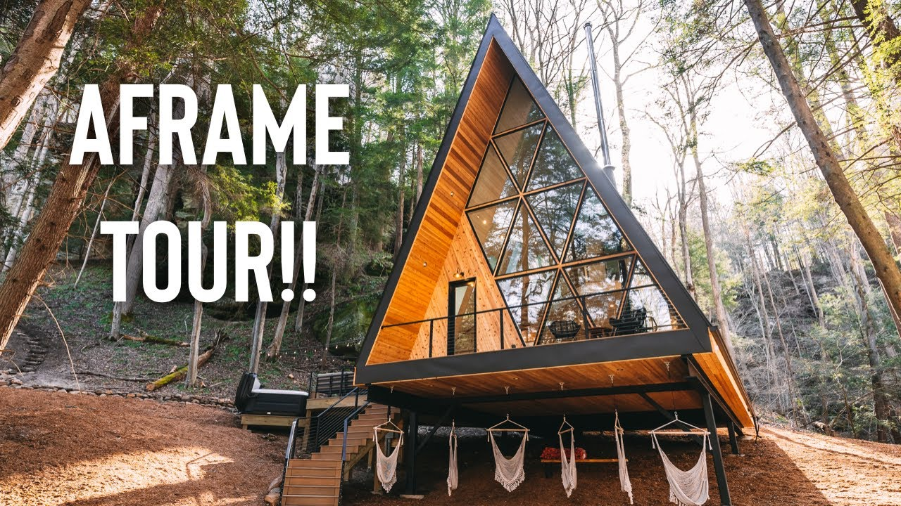 Download 3 Story A-frame w/ Waterfall! | Dunlap Hollow A-frame Tour!!