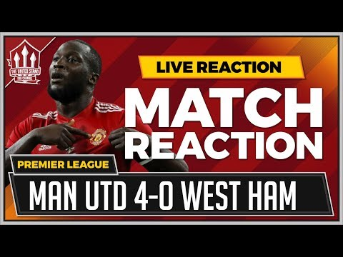Manchester United 4-0 West Ham | Romelu LUKAKU, MARTIAL & POGBA Goals Win it!