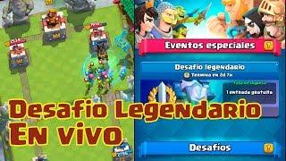 Jugando el desafío legendario! | Clash Royale