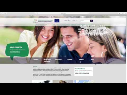 Video Tutorial: How to fill in an Erasmus+ application form