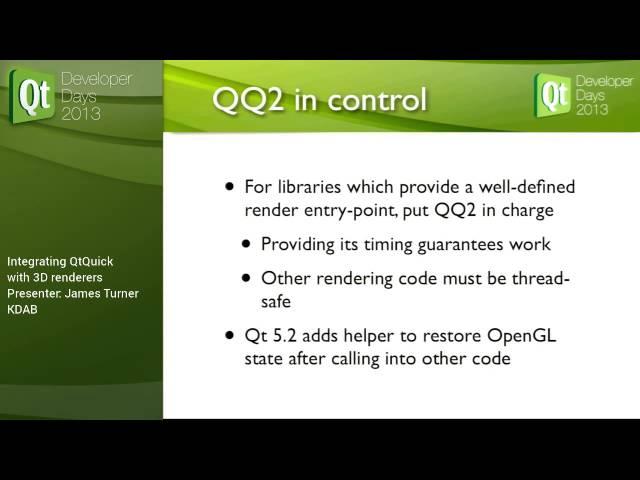 Integrating QtQuick 2 with 3D renderers | KDAB