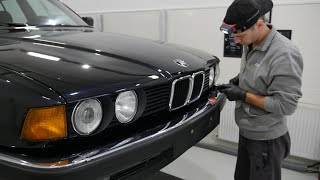 Bringing back to life to a BMW E32 730i Full detailing