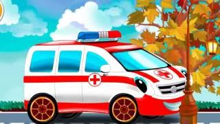 Мультфильмы для детей.  Машинки экстренной помощи - ПОЖАРНАЯ и ПОЛИЦЕЙСКАЯ МАШИНА, СКОРАЯ ПОМОЩЬ
