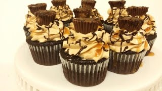 How To Make Chocolate Cupcakes - Homemade Peanut Butter Frosting Recipe- Cesy Can Cook
