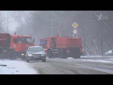 Снегопад в Москве,