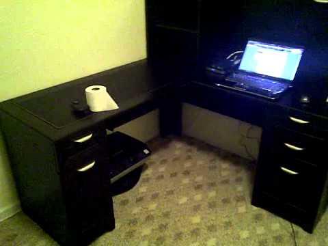 Real Space Magellan Desk Hutch and Bookshelf YouTube