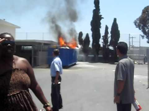 Los Angeles High School on fire!