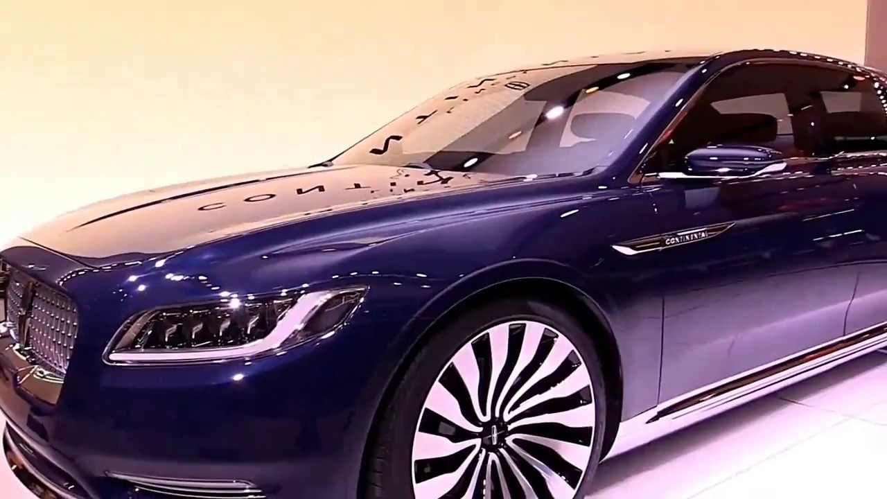 2018 Lincoln Continental Concept Blueshapire Special First