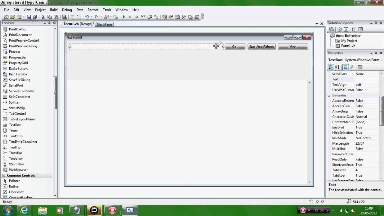 how to make a vb program start