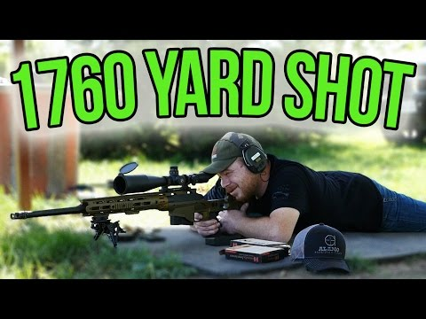 One Mile Long Shot With The Remington MSR And A New Long Range Shooter