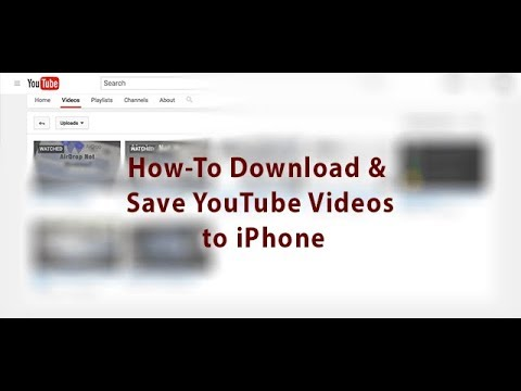 HOW TO SAVE YOUTUBE VIDEO TO IPHONE CAMERA ROLL (2018)