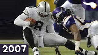 Daunte Returns to the Dome - Raiders vs. Vikings (Week 11, 2007) Classic Highlights