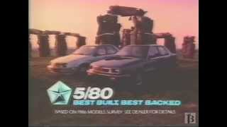 1986 Dodge Shadow, Plymouth Sundance Commercial