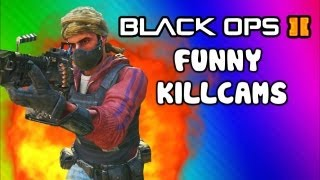 Repeat youtube video Black Ops 2 Funny Killcams - Dive Shot, LMG Quick Scopes, 360 Wall Bang (Trolling / Funtage)
