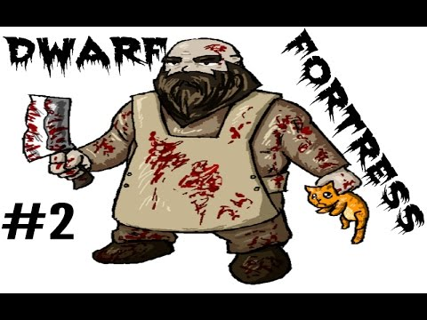 Dwarf Fortress Part 2 (Building a wall and starting to dig down)