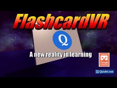 Study Quizlet flashcards in Virtual Reality