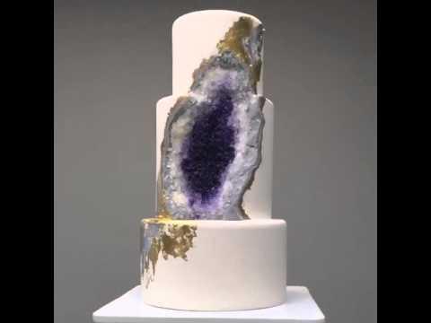 This Magnificent Amethyst Geode Wedding Cake Is a Dessert Masterpiece