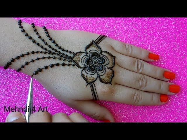 New style Easy Mehndi Design back hand   jwellery Mehndi Design for Hands #1