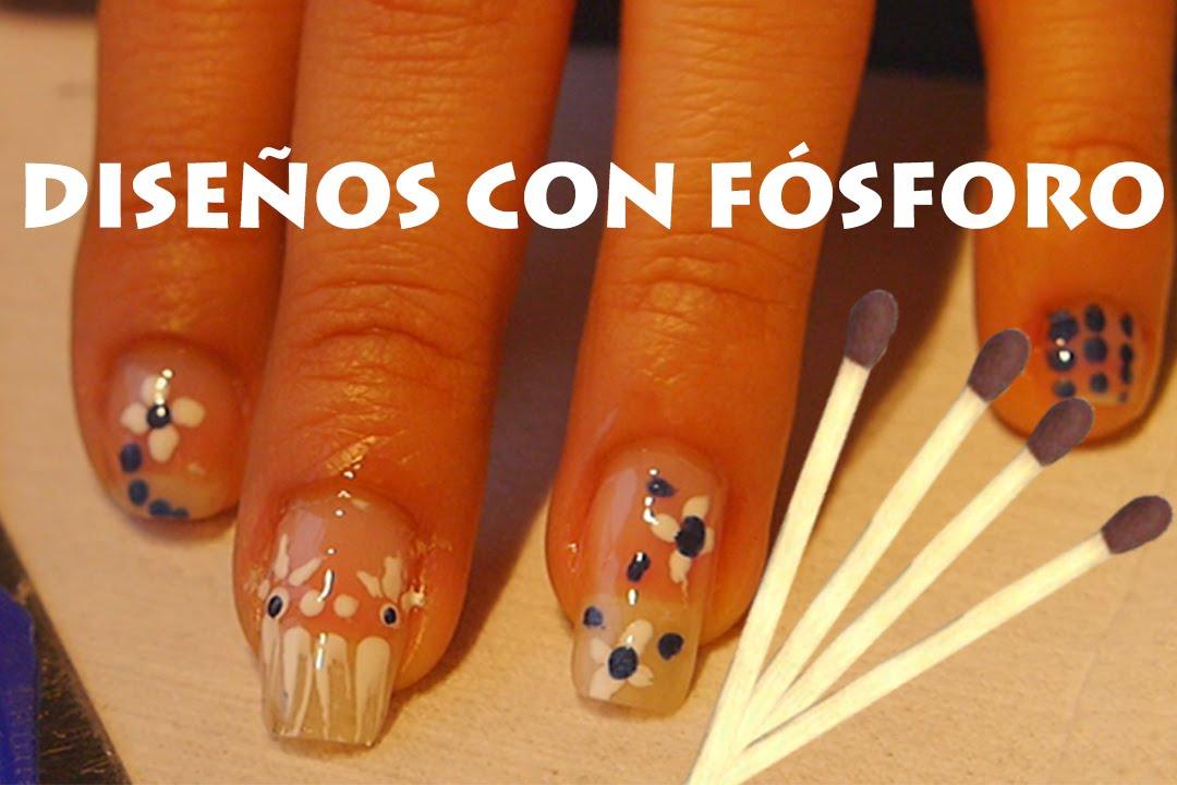 Has tu diseño para uñas con palito de fósforo!! - YouTube