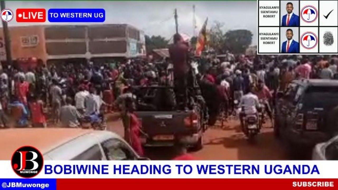 BOBIWINE, KYAGULANYI HEADING TO WESTERN UGANDA BUT POLICE IS TEARGASSING PEOPLE