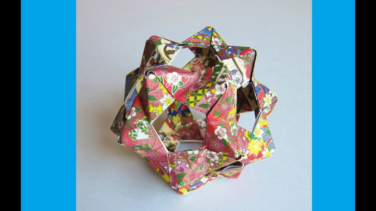 Origami Bucky Ball - Dodecahedron (30 PHIZZ Units) - Origami Flower Ball