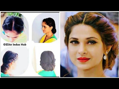 Twist and Roll Updo | Jennifer winget hairstyle Tutorial | Curly / Frizzy Hair Prom Updo Hairstyle thumbnail
