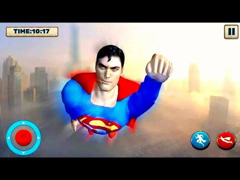 Grand Superhero Flying Robot City Rescue Mission - Flying Robot Superhero Crime City Rescue Mission