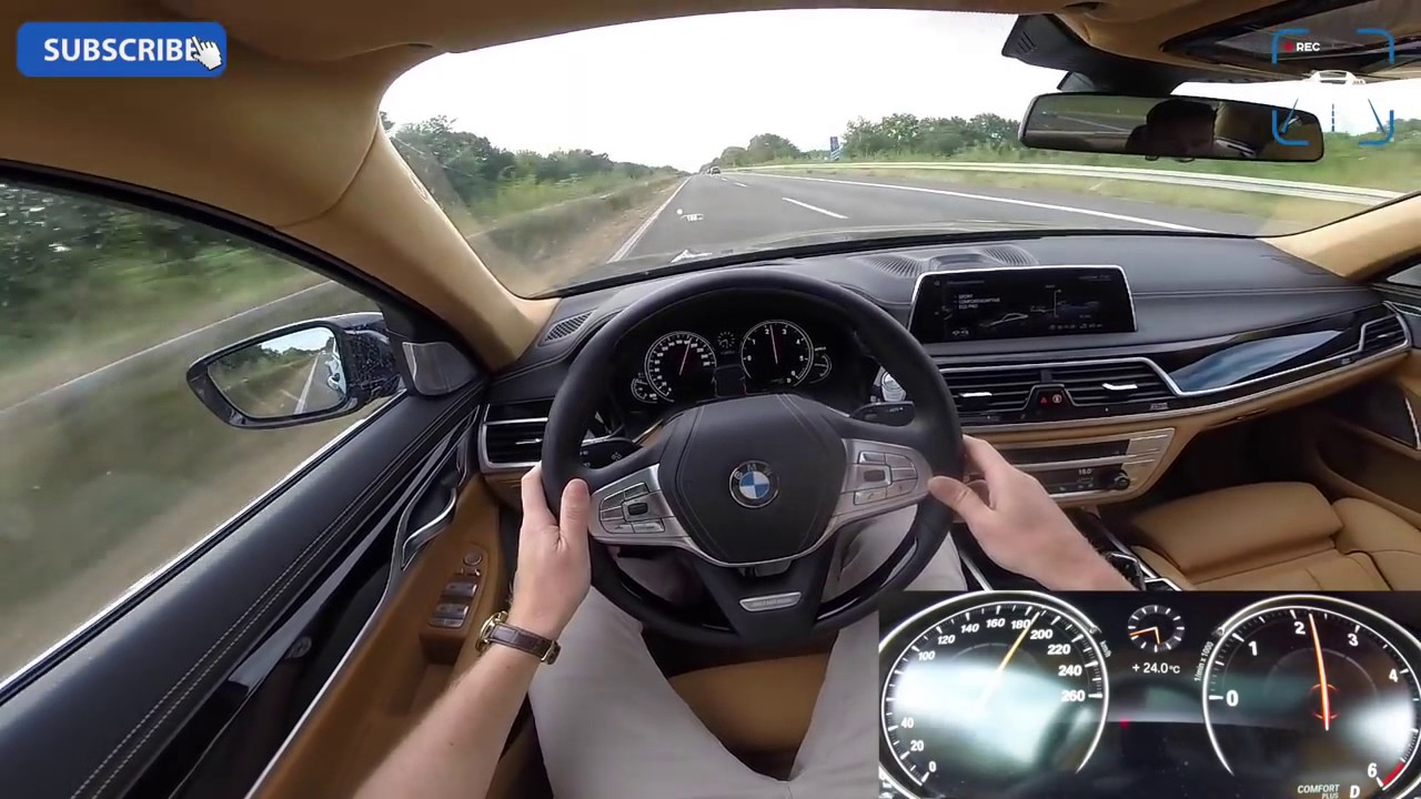 BMW 7 Series 2017 740d ACCELERATION TOP SPEED Interior POV Test Drive AUTOBAHN