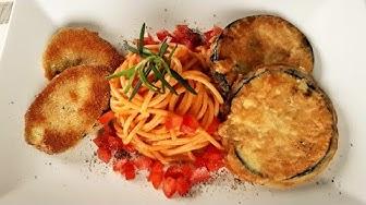 Zucchini Schnitzel und Piccata von der Aubergine