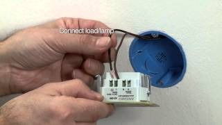 How to install an Anigmo Dimmer (2 wire mode)