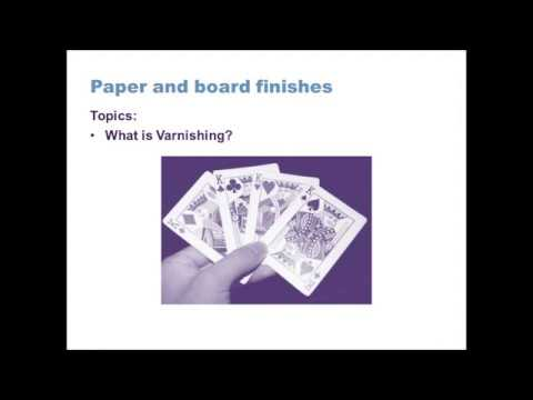 GCSE Design Technology (9-1): Paper and board finishes