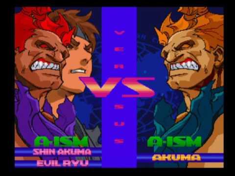 Street Fighter Alpha 3 Upper - Shin Akuma + Evil Ryu (Dramatic Battle Survival Mode)