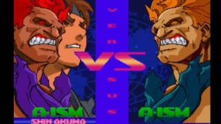 Street Fighter Alpha 3 Upper - Shin Akuma + Evil Ryu (Dramatic Battle Survival Mode)