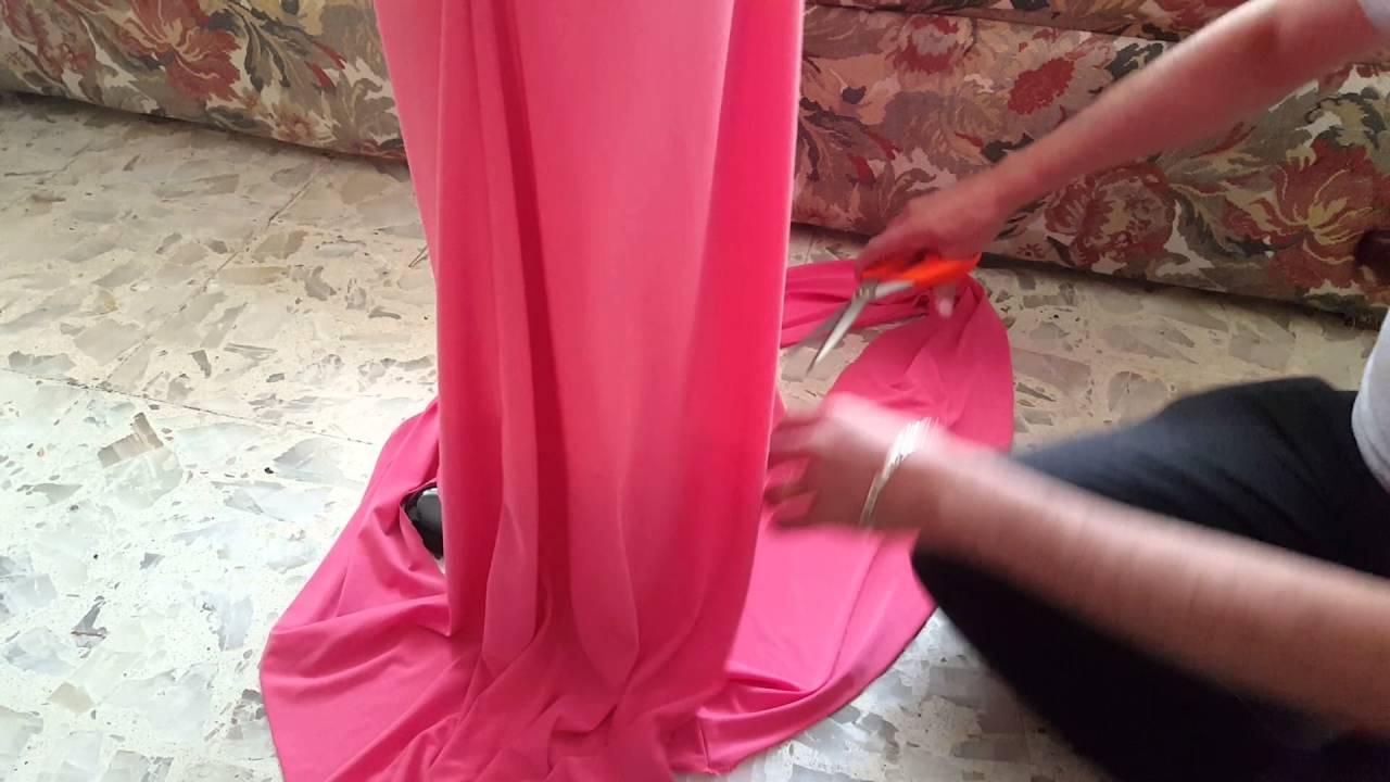 Como hacer un vestido largo corto sin cortarlo