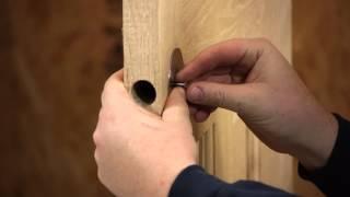 How To Install A Dummy Door Knob On A Pre Bored Door Door Installation Repairs Youtube