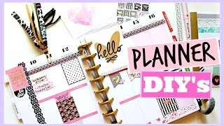PLANNER DIY'S: Page Flags, Covers, and Bookmarks | Huge GIVEAWAY!