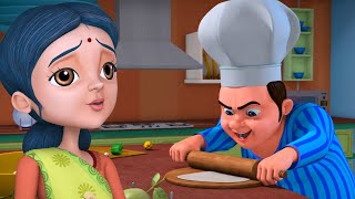 Lalaji in Kitchen   Bengali Rhymes for Children   Infobells