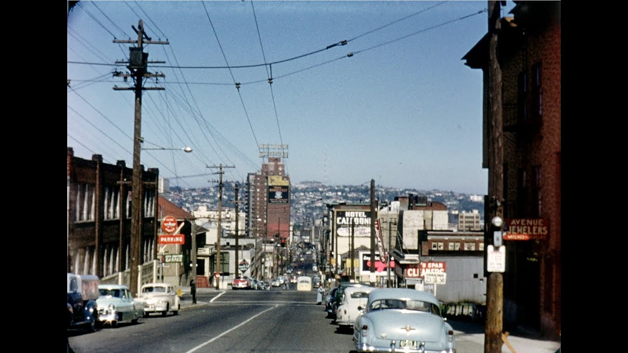 seattle 1955 hd home movies by land and sky youtube