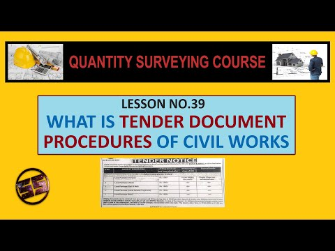 What is TENDER DOCUMENT & PROCEDURES for Civil Works